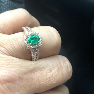 Le vian emerald ring 7 rose gold